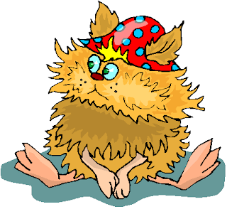 Funny Yellow Creature Sitting Free Clipart