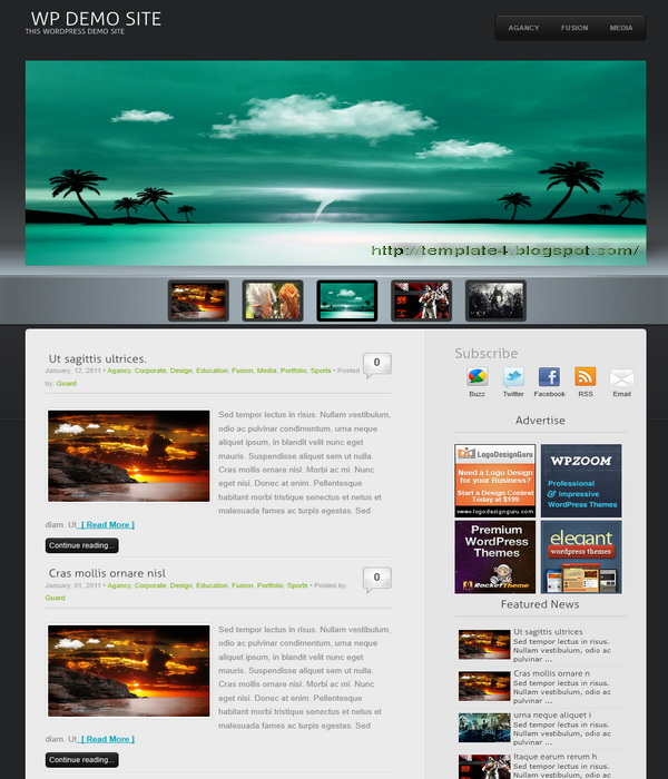 Wp3D WordPress Theme