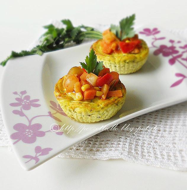 muffins Tortini di zucchine e ricotta