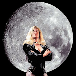 Black Canary with full moon background