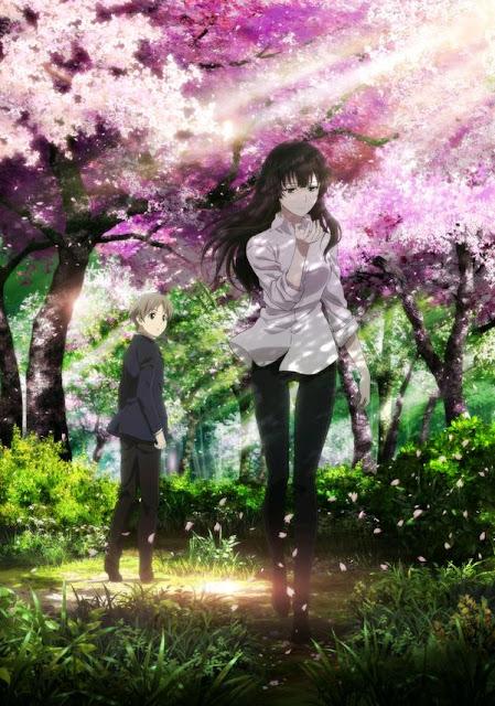 Sakurako-san no Ashimoto ni wa Shitai ga Umatteiru - plakat promujący nowe anime