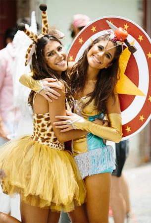 fantasia de Girafa de Bailarina Farm coleção de Carnaval