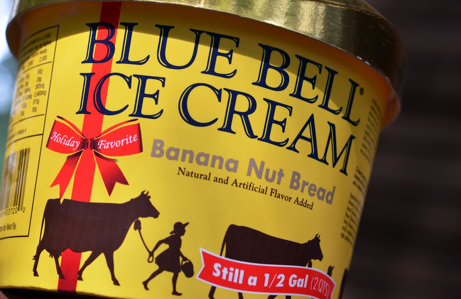 Food and ice cream recipes review blue bell banana nut for Where can i find blue bell christmas cookie ice cream