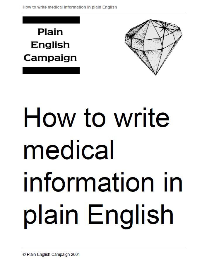 Medicine write me in english