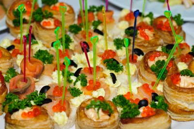Easy to cook recipes party food serving canapes and for Easy cold canape ideas