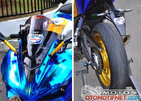 Modifikasi Yamaha YZF-R25 Biru