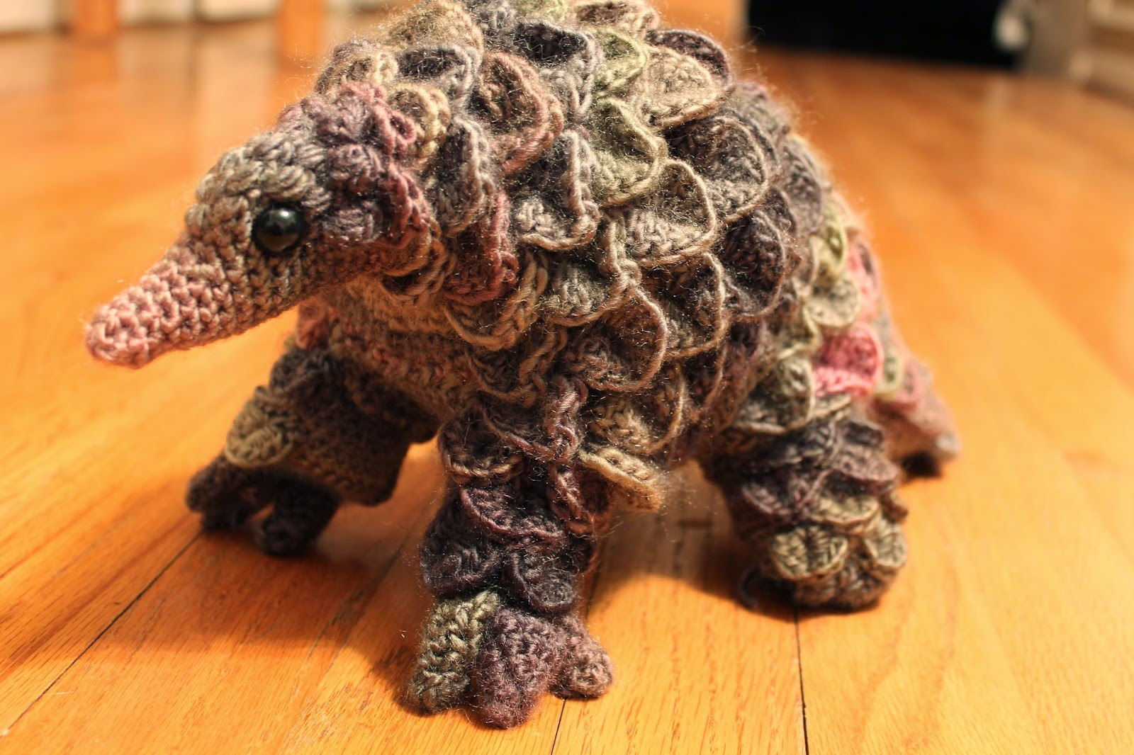 Crocheted Pangolin on Frog Crafts