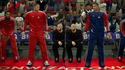 NBA 2K14 Washington Wizards Warmup Uniforms
