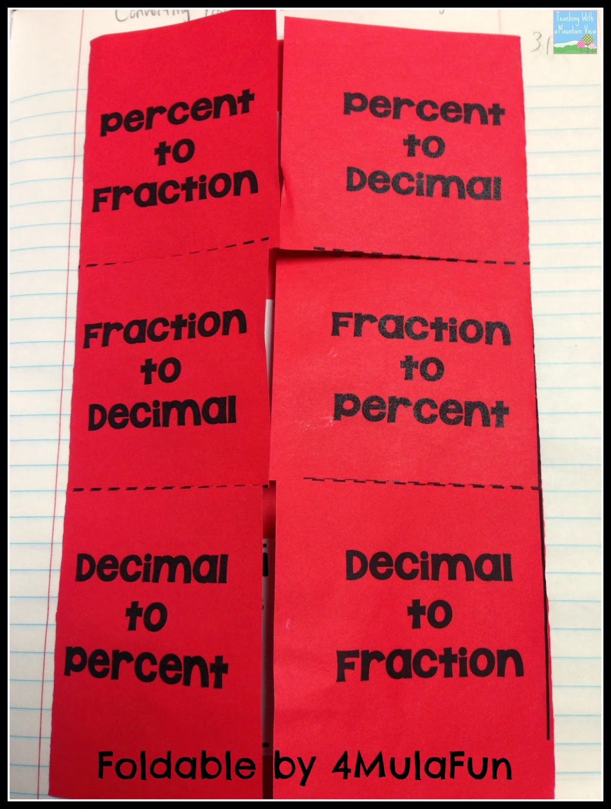 teaching with a mountain view percents decimals fractions and a  saturday january