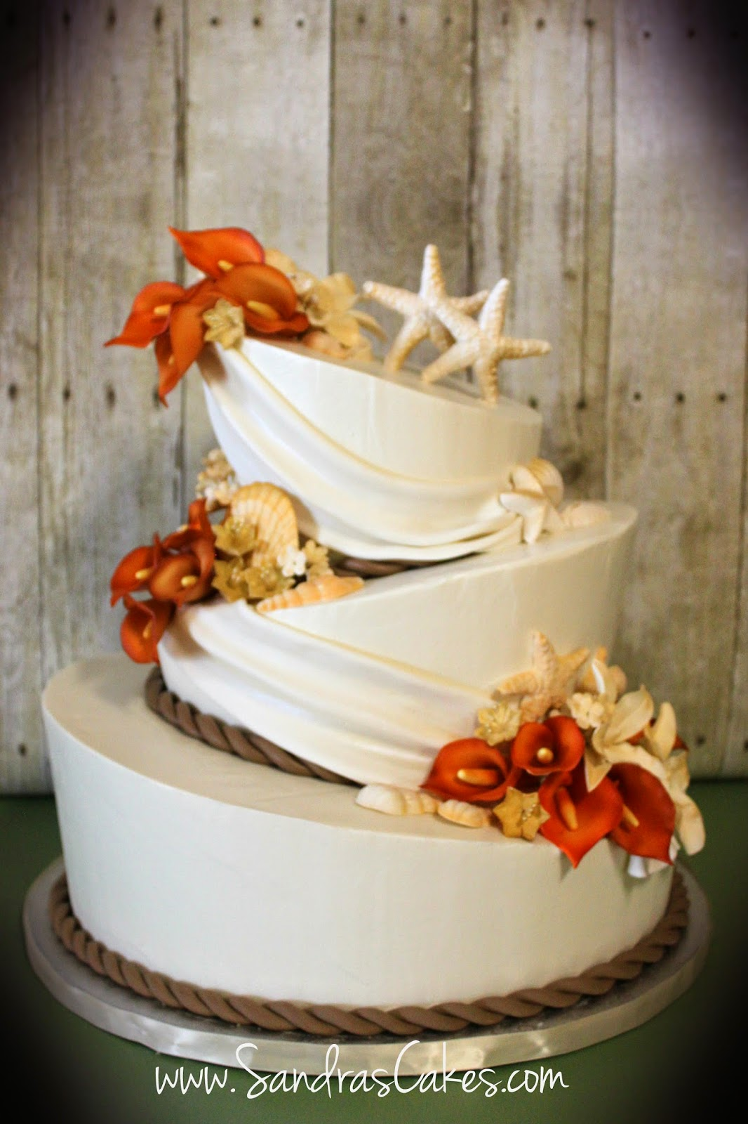 Elegant Buttercream Topsy Turvy Wedding Cake