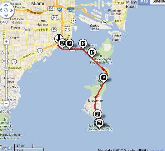Chuck 39 s adventures biking miami 39 s key biscayne for Key west bike trails