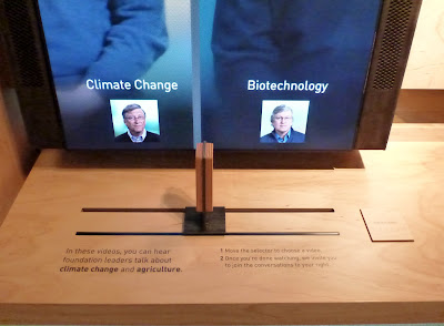Gates Foundation Visitor Center – Two Displays