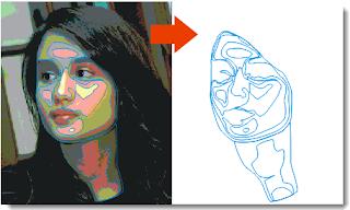 Menggambar wajah Dengan CorelDraw