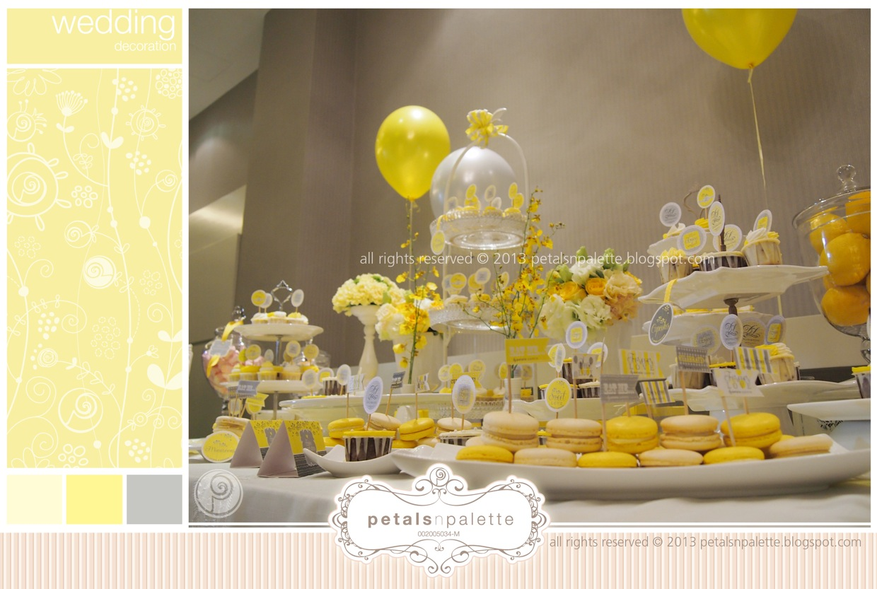 Dessert Table - Wedding Decoration Malaysia - Floral