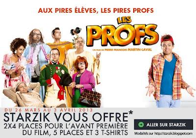 Jeu Concours Les Profs sur http://www.starzik.com