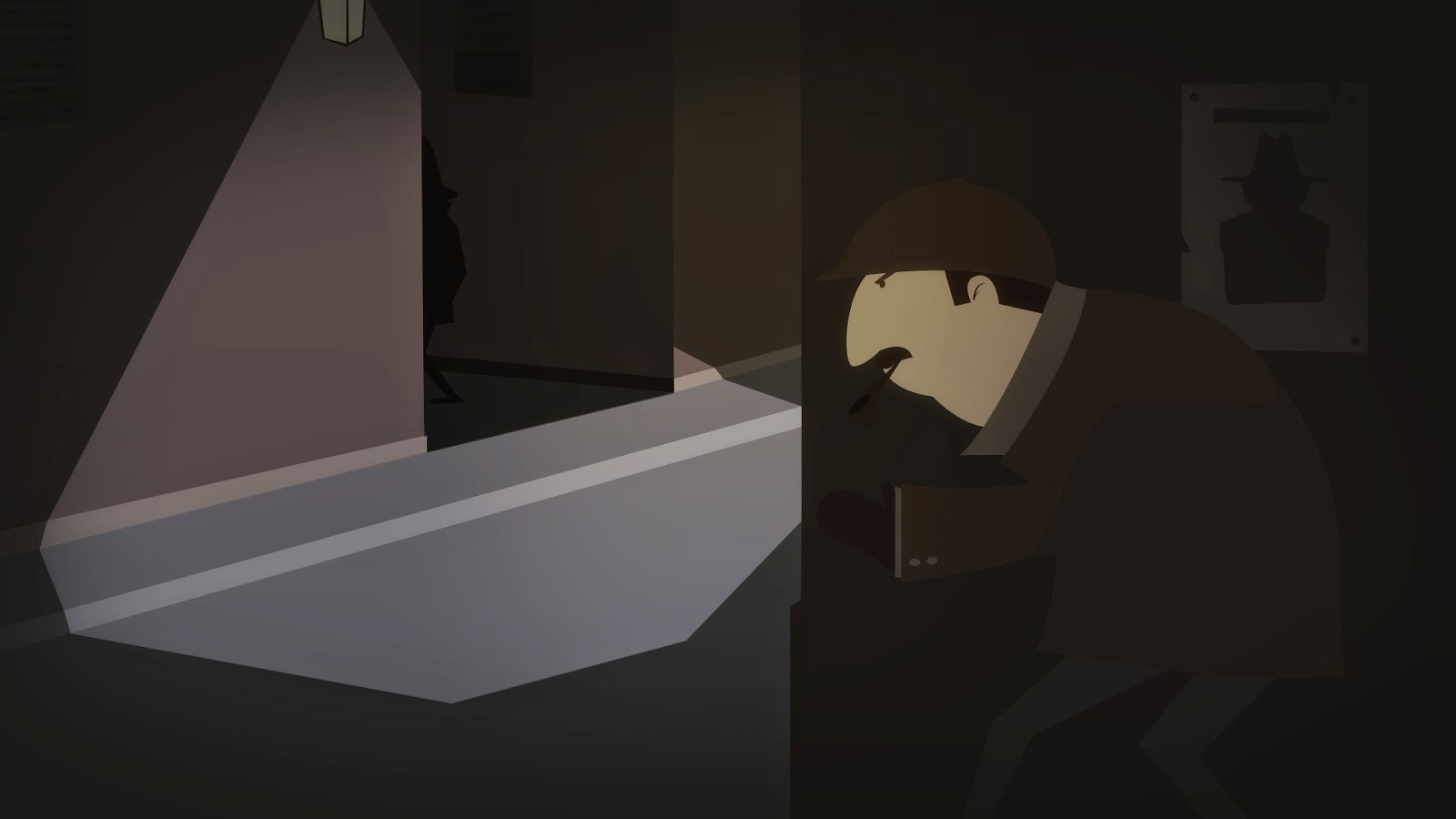 Sherlock Holmes inspired illustration
