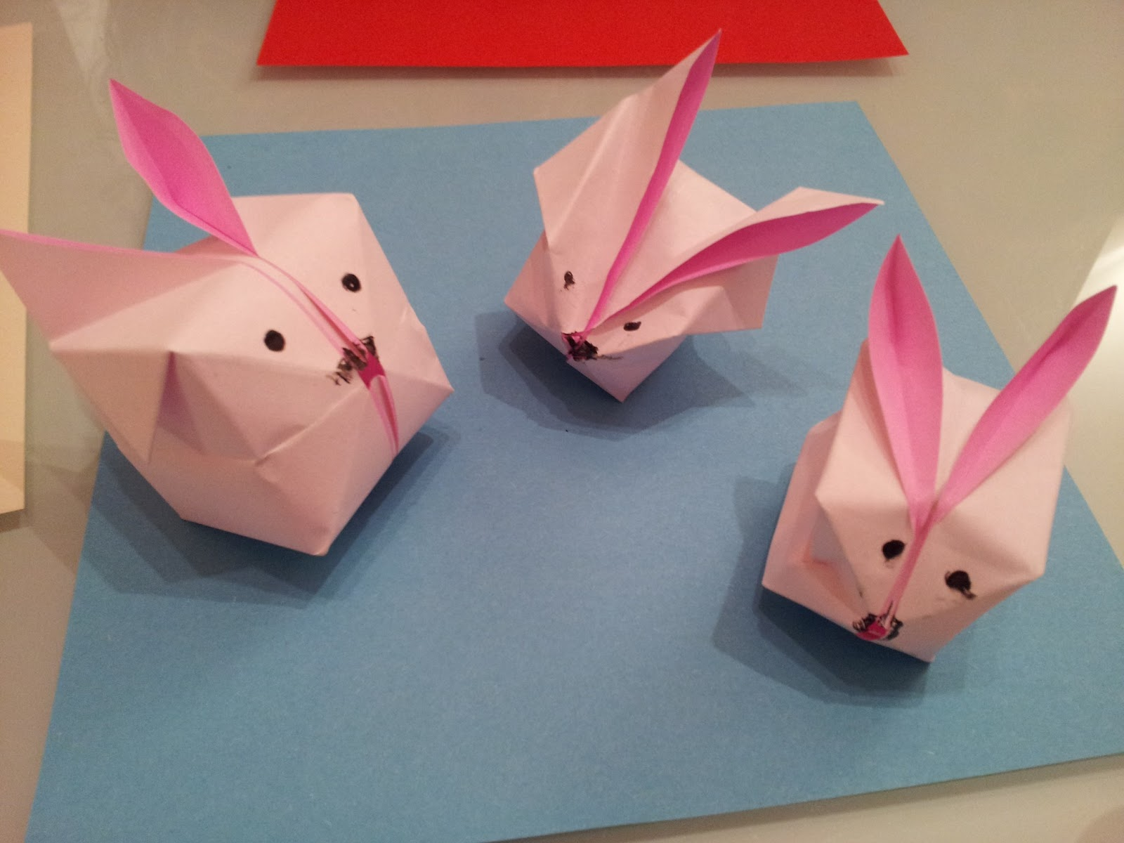 Paper moon origami third lesson and then we made a bunch of creepy blinking eyes jeuxipadfo Choice Image