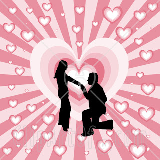 black_silhouetted_man_on_his_knees_proposing_to_a_woman_over_a_pink_bursting_heart_background