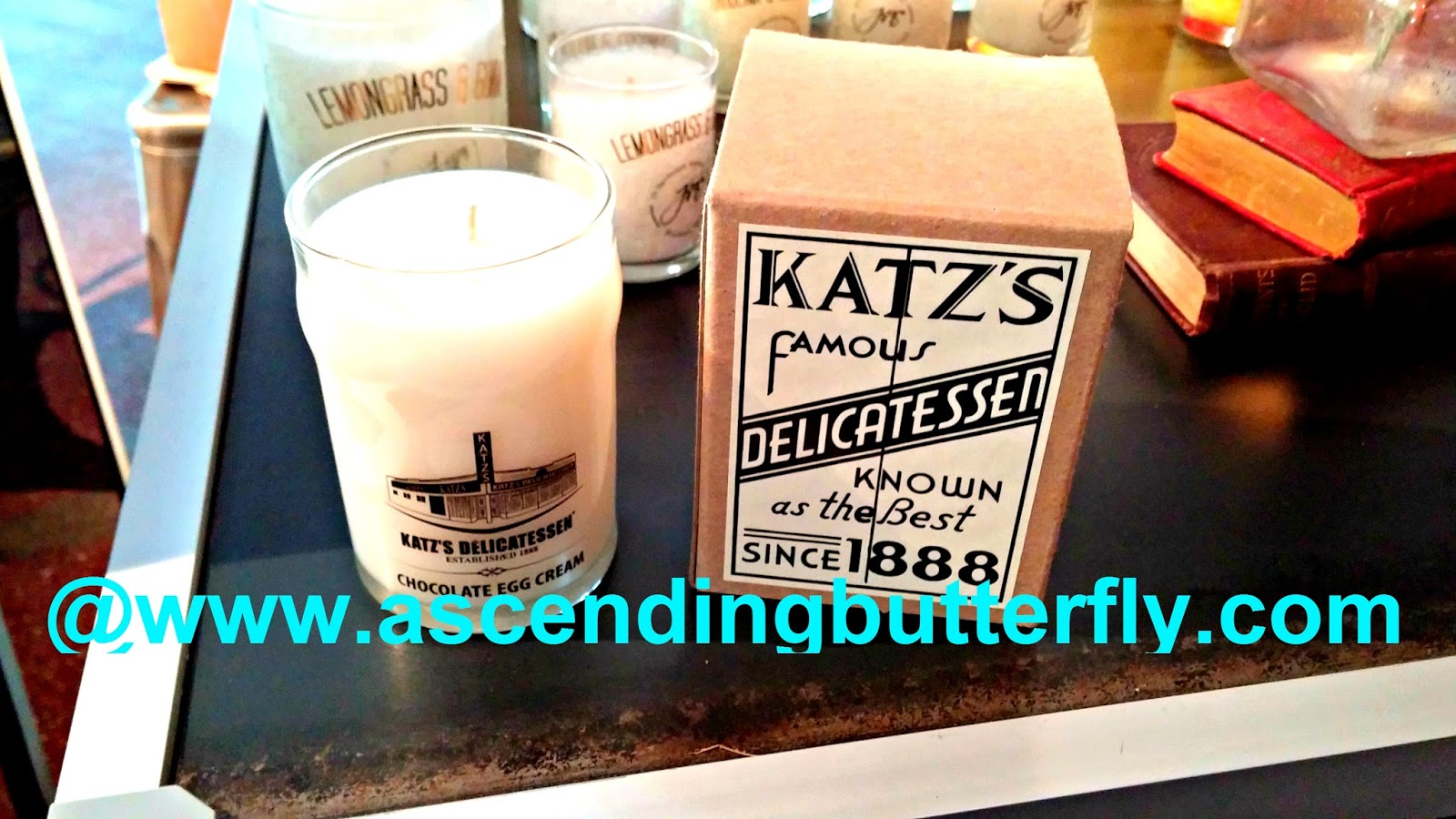 candle in honor of the Famous Katz's Delicatessen, a NYC institution since 1888