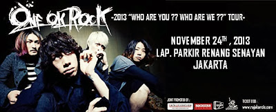ONE OK ROCK akan menyambangi Jakarta 24 November ini, Are You Ready???