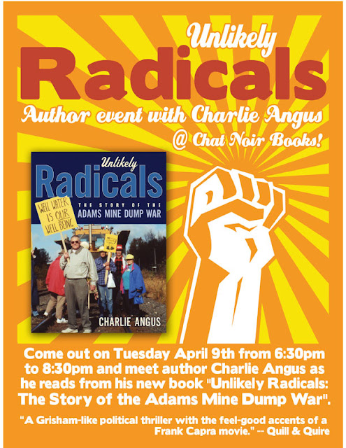 Author Event with Charlie Angus and his new book Unlikely Radicals