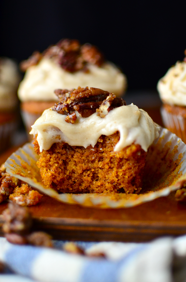 Gluten Free Pumpkin Cupcakes with Browned Butter Cream Cheese Frosting ...