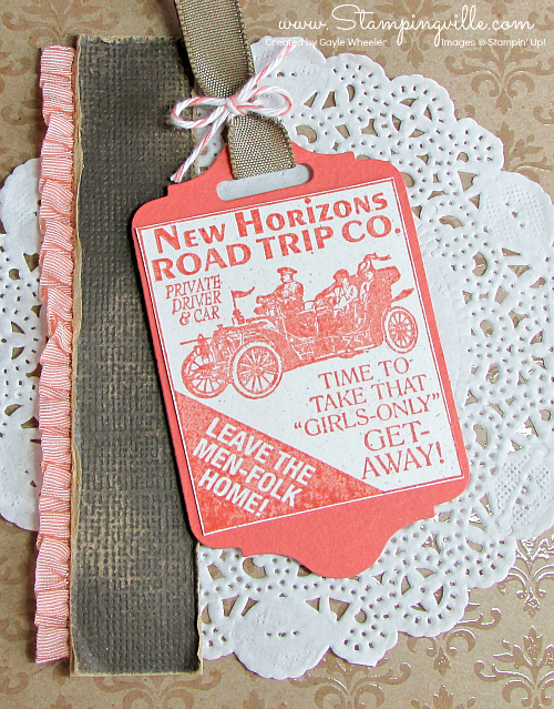 Vintage road trip image on Chalk Talk tag