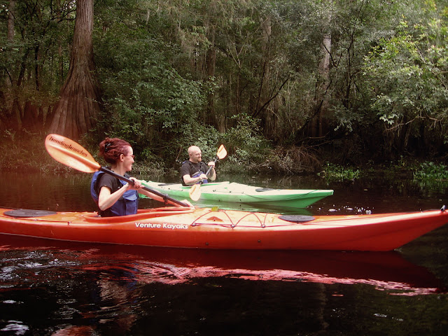 kayaking, ebeneezer creek, Savannah