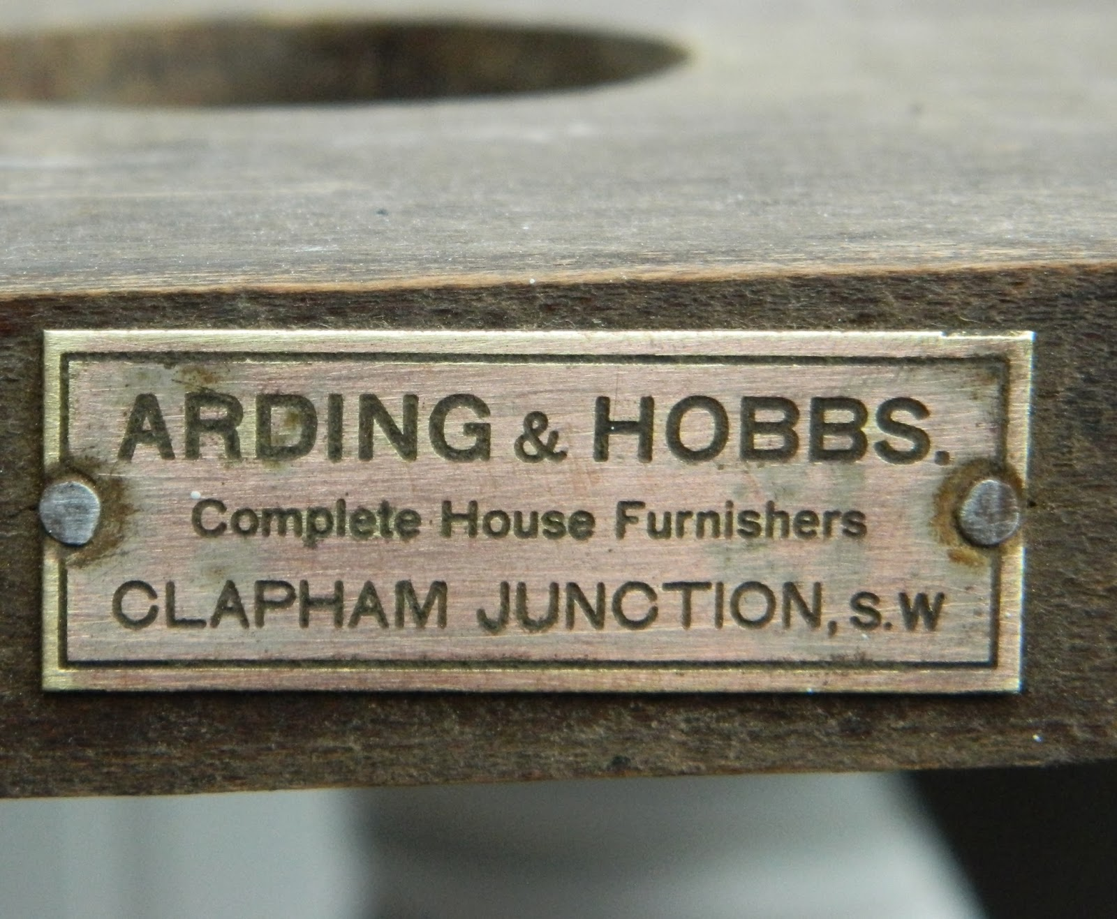 This Label Shows The Table Was Bought In Arding U0026 Hobbs Which Was A Well  Know Reputable Chain Of Furniture Stores Across London Established In 1862,  ...