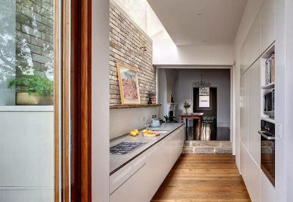 Cocina estrecha decorar tu casa es - Cocinas alargadas y estrechas fotos ...