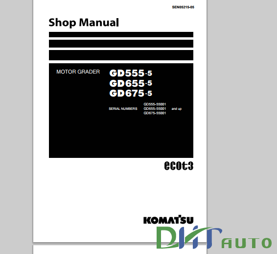komatsu motorgraders workshop manuals heavy equipment workshop komatsu motor grader gd825a 2shop manua