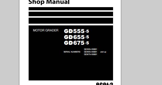 Komatsu motorgraders workshop manuals heavy equipment workshop manuals fandeluxe Gallery