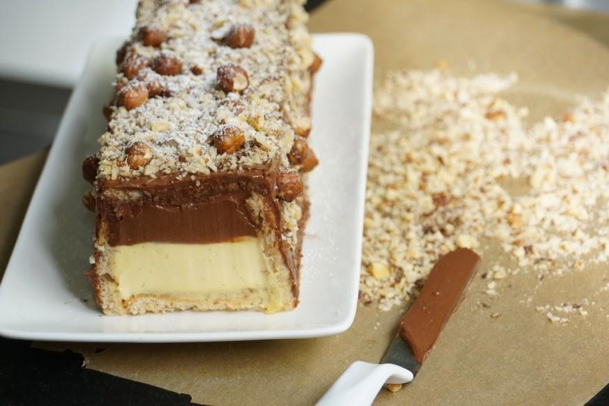 A manger et voir b che de no l chocolat vanille - Herve cuisine buche de noel ...