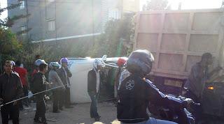 kecelakaan lalu lintas di jalan A.Yani