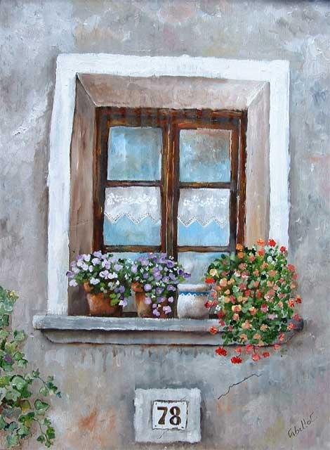 Dipinti su legno e su pietra finestre su legno 35x50 - Finestre di legno ...