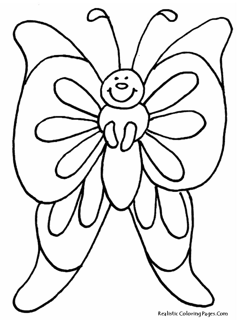 realistic butterflies coloring pages - photo#8