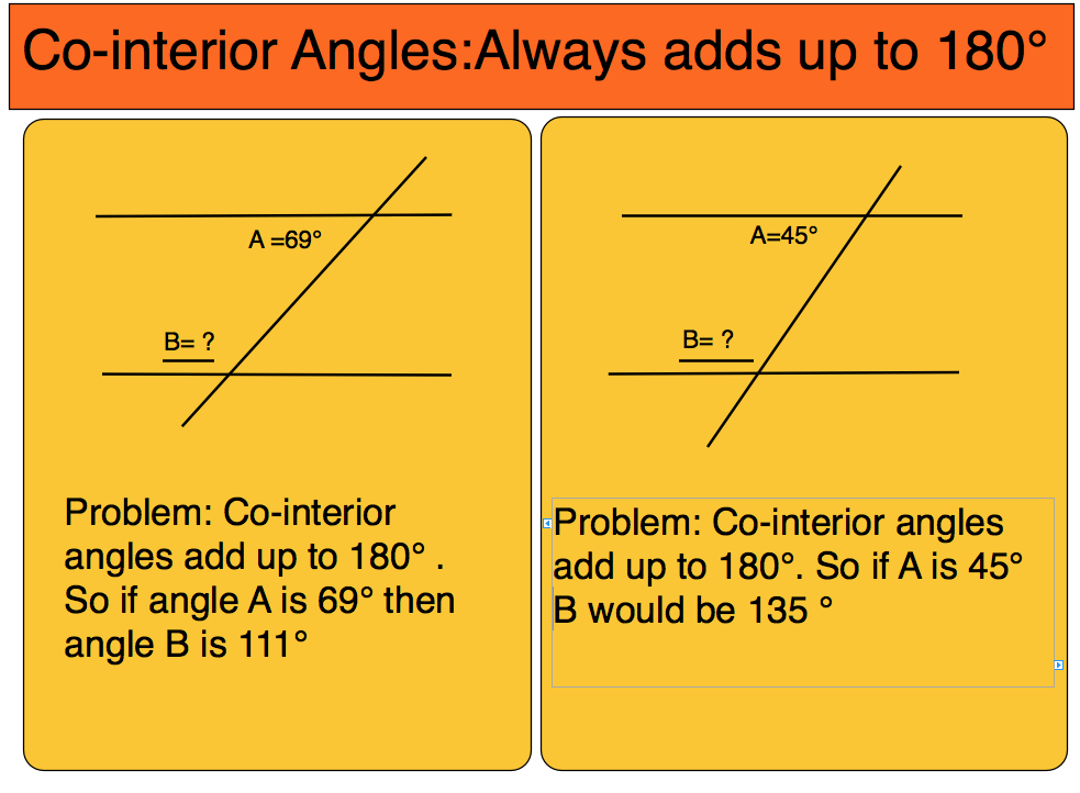 What do co interior angles add up to corresponding alternate and co interior angles 7 room5 What do exterior angles of a triangle add up to