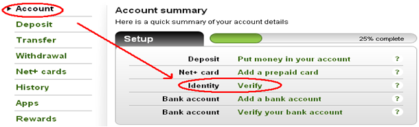 how to change country of neteller account