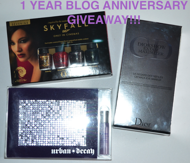 MY 1 YEAR BLOG ANNIVERSARY GIVEAWAY!!!