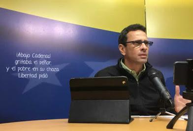 Capriles: El pueblo debe vernos como una vía para salir de la crisis