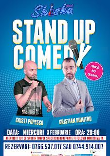 Stand-Up Comedy Miercuri 3 Februarie Bucuresti