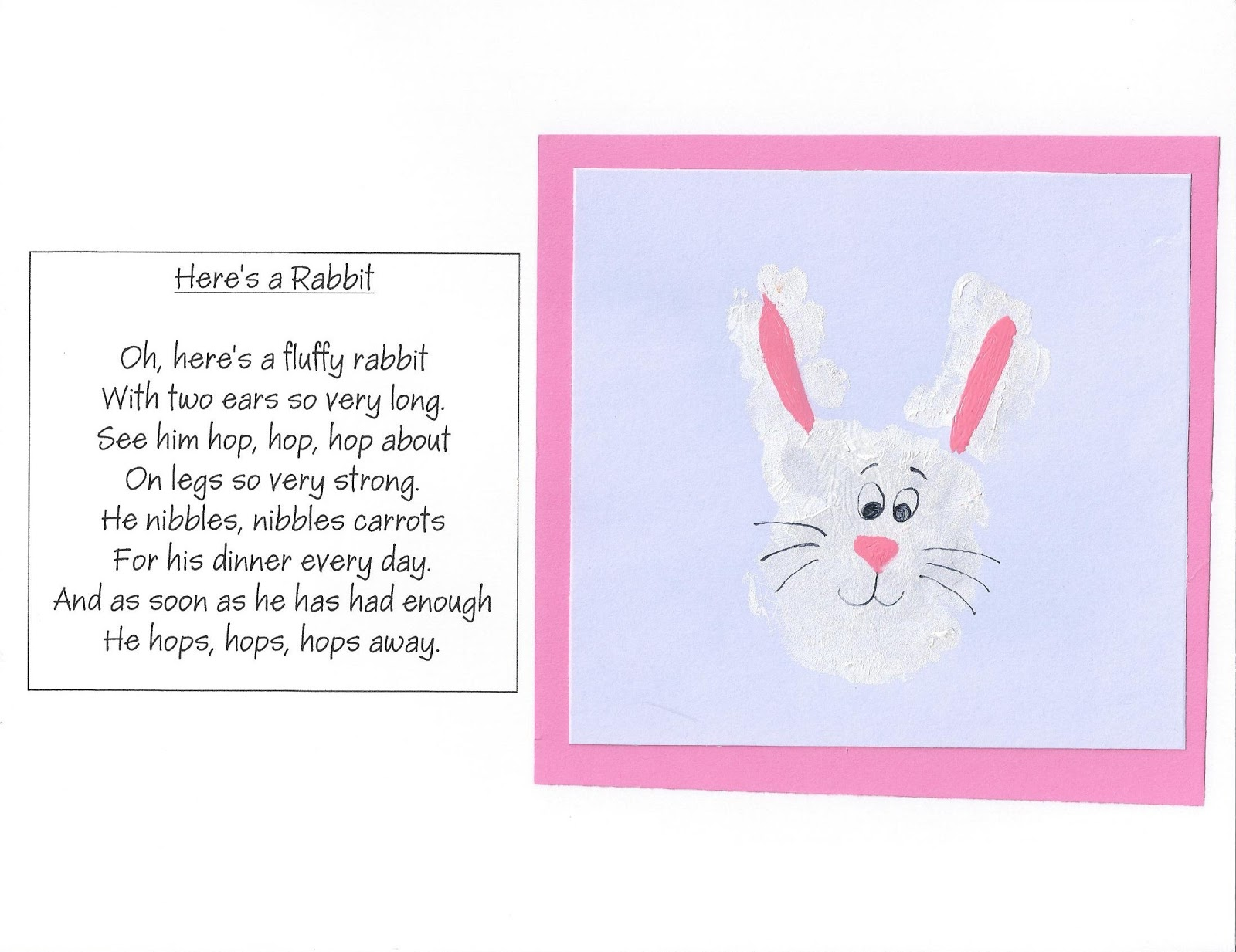 April Handprint Calendar : Puppy dog tales handprint footprint calendar