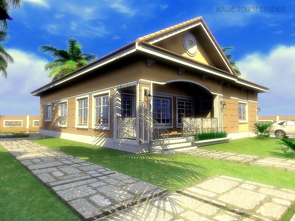 Residential homes and public designs 2 bedroom bungalow for Four bedroom bungalow