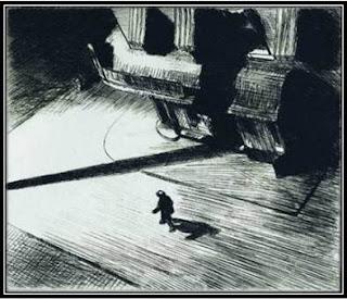gravure peintre Edward Hopper Night Shadows, expo Grand Palais Paris