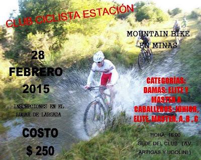 MTB en Club Ciclista Estación de Minas (Lavalleja, 28/feb/2015)