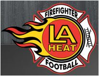 The logo of the Los Angeles Heat Firefighter Football team