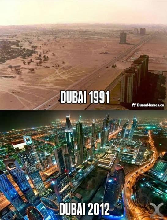 La evolución de Dubai en 20 años