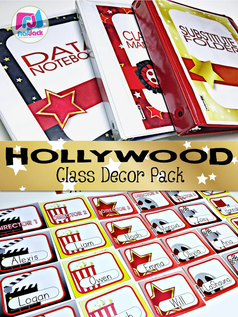 Hollywood Classroom Decor ~ Flapjack educational resources hollywood class decor pack