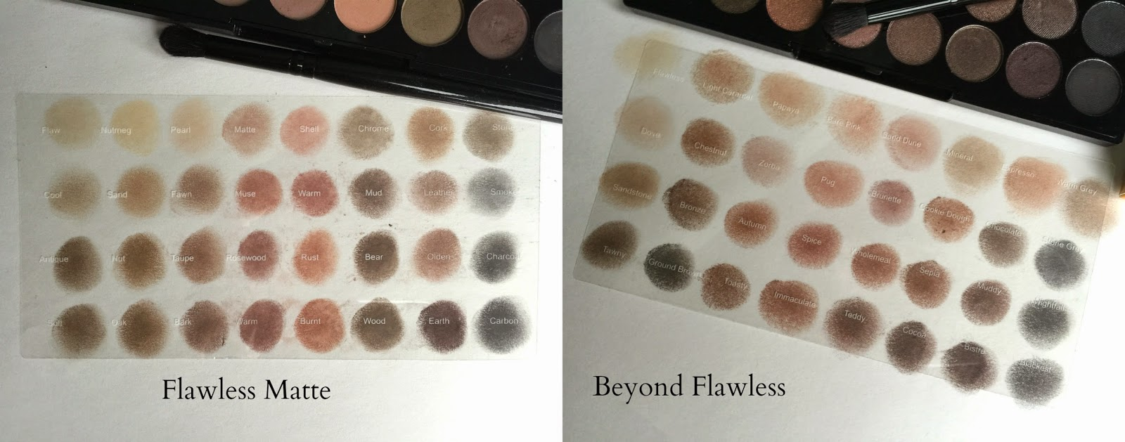 Makeup Revolution Eyeshadow Swatches