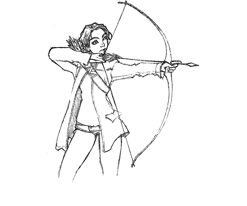 Printable The Hunger Games 5 Coloring Page title=